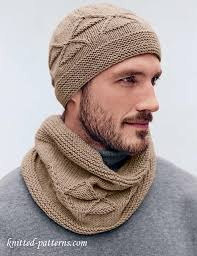 Mens Beanie Knitting Pattern Interesting Men's Hat And Cowl Knitting Pattern