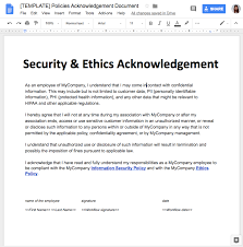 Employee Acknowledgement Form Template Use Case 5 Legal Confirm Reading And Sign An Internal