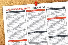 Wolf Cub Scout Requirement Tracking Sheets Ultimate Scouts