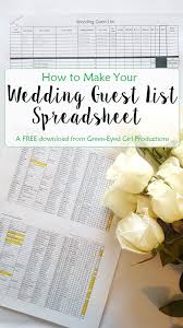 wedding list spreadsheet how to make your wedding guest list excel spreadsheet free download