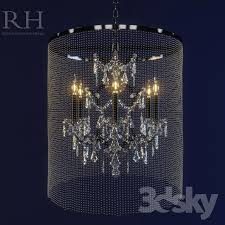 rh vaille crystal chandelier small