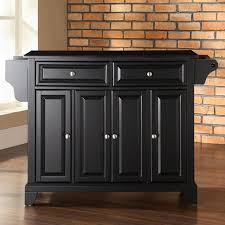 Black Kitchen Island Cart With Granite Top black kitchen island