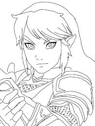Colors Live Legend Of Zelda Link Coloring Page By Kassanova