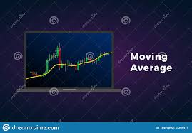 Technical Analysis Charts For Cryptocurrency Moving Average Indicator Technical Analysis Vector Stock