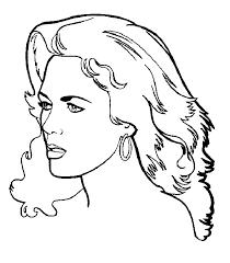 Disegni Di Donna Da Colorare E Stampare Con Fotocopie Da Colorare