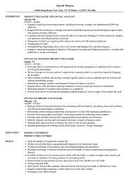 Financial Project Manager Resume Samples Velvet Jobs