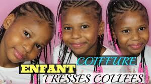 Coiffure Enfant Tresses Coll Es Avec Des Perles Cheveux Afro Youtube