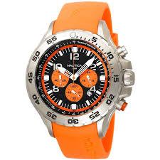 nautica n14538g nst orange rubber strap chronograph men s watch nautica n14538g nst orange rubber strap chronograph men s watch