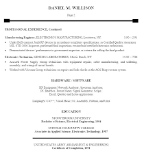 Sample Resume For Electronics Technician Engineer Resume Technician Sample Co Rf Ooxxoo Co
