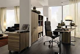 office in house. Elegant Home Office Interior And Furniture For Big House In