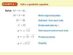 9 solve a quadratic equation