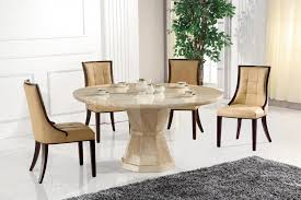 da vinci marble medium round single column 5 piece dining table set