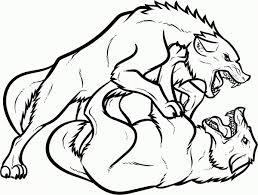 Small Picture Wolf coloring pages two wolves fighting ColoringStar