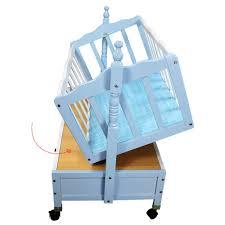 specifications of newborn infant baby wooden crib cradle rocker baby swing 186 blue
