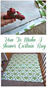 easy diy rugs and handmade rug making project ideas shower curtain rug simple home