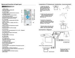 pyle view operating instructions 19 flip down monitorw built in and function of each part installation professional installation recommended 0