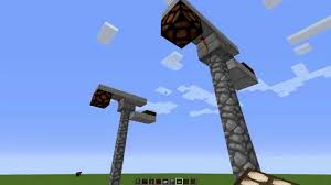 how to make an redstone lamp post in minecraft