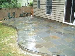how to make a flagstone patio