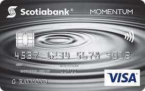 scotia momentum no fee visa card