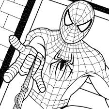 Peter parker, a child and a truck. Spectacular Spider Man Coloring Pages Coloring Home
