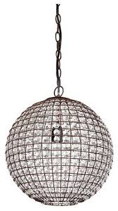 wire crystal ball pendant light simple stainless steel chain bulb classic round antique metal fabulous