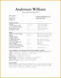beginner acting resume sample best of acting resume template for beginners audiopinions