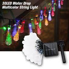 Giá bán Đèn Led Dây 30 Bóng Đèn Hình Giọt Nước Nhiều Màu Trang Trí