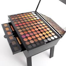 dels about 180 colors professional eye shadow palette makeup set with brush mirror shrink