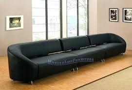 es long leather sofa narrow