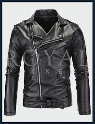 slim motorcycle homme leather jacket for men