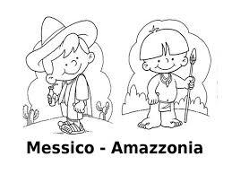 Disegni Da Colorare I Bambini Del Mondo Messico Amazzonia