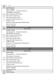 unit planner template for teachers pyp day plan template making good humans