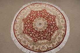 round qom persian rug high quality round persian rugs handmade small red round qum
