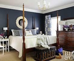 Dark Bedroom Paint Colors. Pinterest. High Contrast Bedroom With Navy Walls