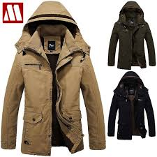 mens winter jackets 2017 wintet casual mens fur winter coats army green outwear military man thick