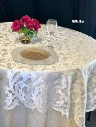 lace tablecloth table runner gold table overlay winter wonderland round table overlays