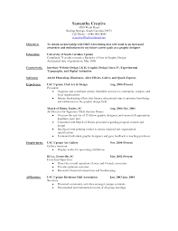 Resume Objective For Graphic Designer Graphic Design Resume Profile Examples Therpgmovie 10