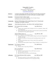 Resume Objective For Graphic Designer Graphic Design Resume Profile Examples Therpgmovie 10