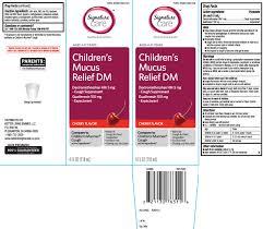 childrens mucus relief dm liquid