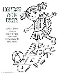 Brownie Girl Scout Coloring Pages Printable Girl Scout Cookie