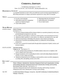 Resume For Managerial Position Impactful Professional Management Resume Examples