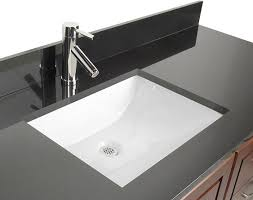 undermount bathroom sink. Ceramic Rectangular Undermount Bathroom Sink With Overflow 9