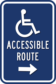 Handicap Bathroom Signs Fascinating ADA Wheelchair Accessible Route Direction Signs ADA Sign Depot