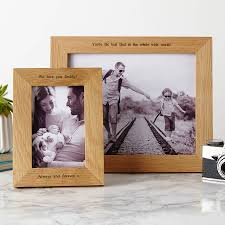 personalised solid oak photo frame for new dads