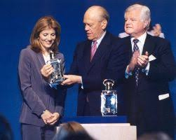 jfk s ldquo profiles in courage rdquo the pop history dig former president gerald ford receiving 2001 profile in courage award from caroline kennedy senator ted