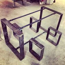 metal furniture design. flat metal table and bench frames furniture design