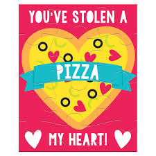Amscan 5 In Valentines Day Pizza Exchange Card Puzzles 12 Count 5 Pack