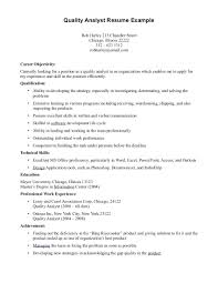 Quality Assurance Resume Objective Sample resume Quality Assurance Resume Examples Objective Sample Quality 56