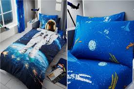 kids astronaut multi bedding space ship children teenage boys girls duvet pillow spaces bedsheets for twin
