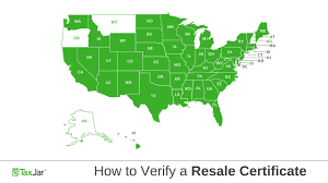 Sales Tax By State How To Verify A Resale Certificate